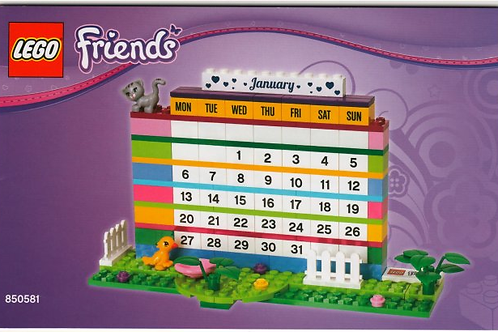 Lego Friends 850581 Brick Calendar - Days and Months in English