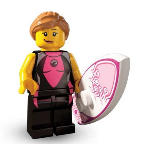 Lego Minifigür Seri 4 Surfer Girl