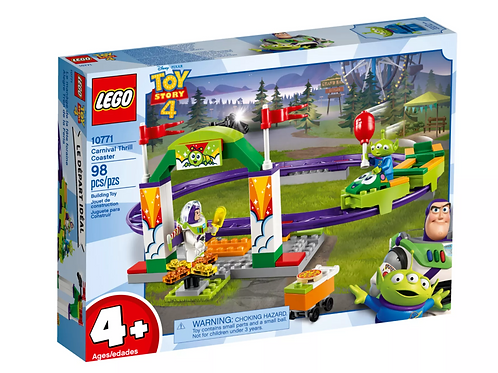 Lego Juniors 10771 Toy Story 4 Carnival Thrill Coaster