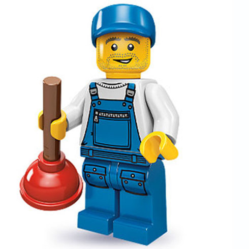 Lego Minifigür Seri 9 Plumber No:16