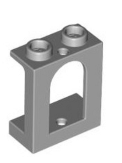 Lego Panel 1 x 2 x 2 Recessed Solid Stud with Arched Window Opening (90195)