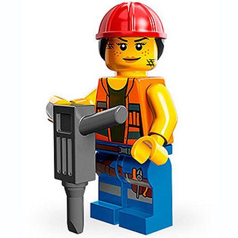 Lego Minifigür Movie Seri Gail the Construction Worker