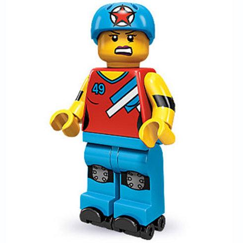 Lego Minifigür Seri 9 Roller Derby Girl No:8