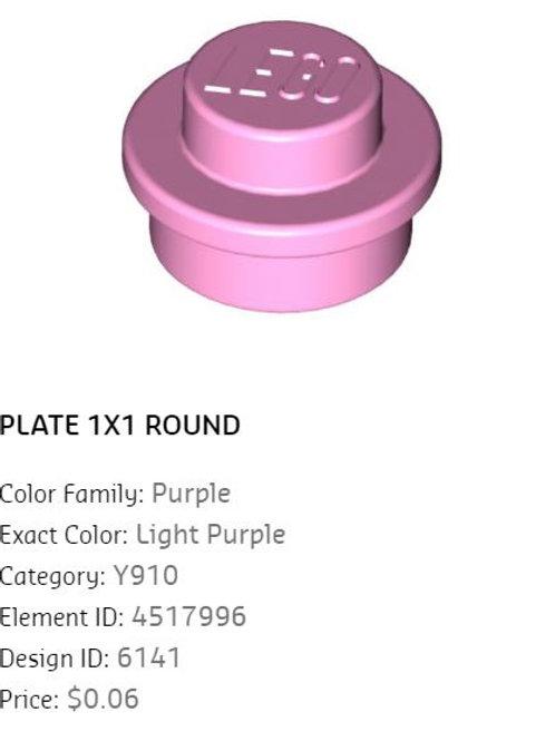 Plate 1x1 Round