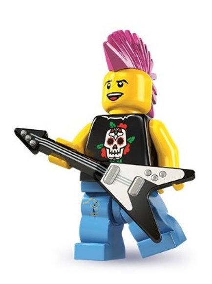 Lego Minifigür Seri 4 Punk Rocker