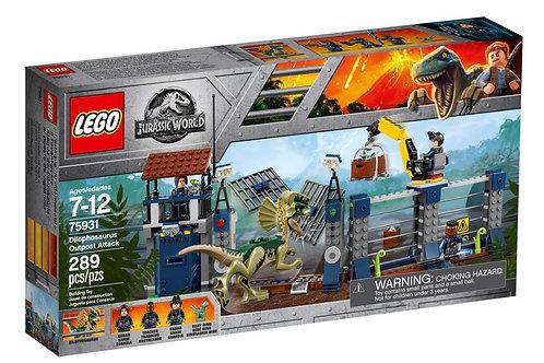 Lego Jurassic World 75931 Dilophosaurus Güvenlik Noktası Saldırısı