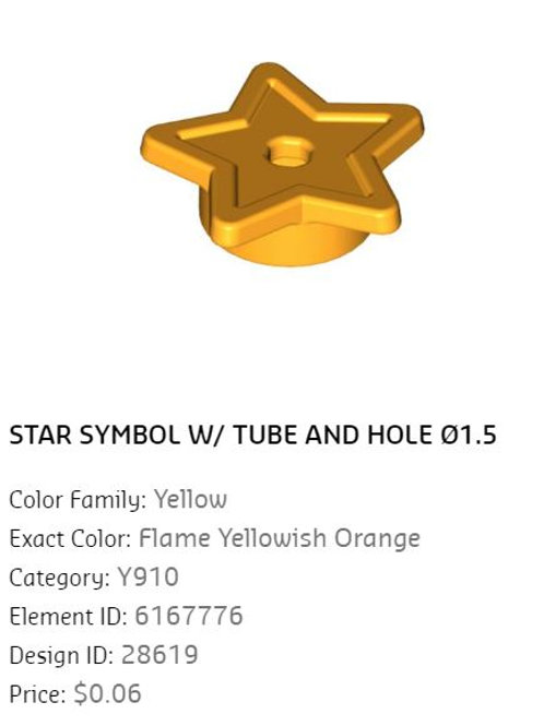 STAR SYMBOL W/ TUBE AND HOLE Ø1.5