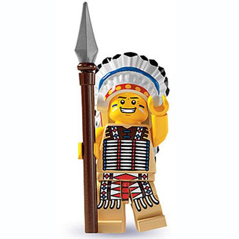 Lego Minifigür Seri 3 Tribal Chief No:3
