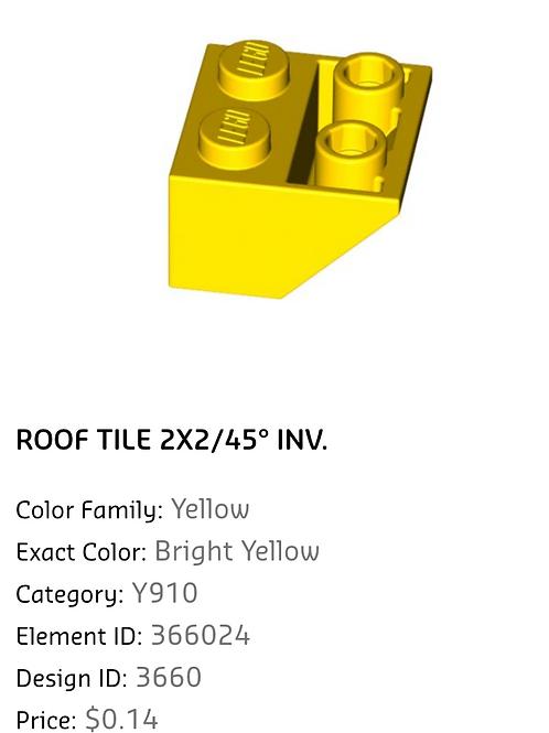 Roof Tile 2x2/45 INV