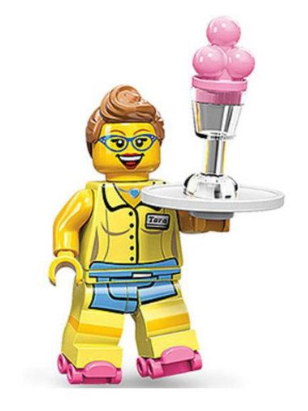 Lego Minifigür Seri 11 Diner Waitress No:13