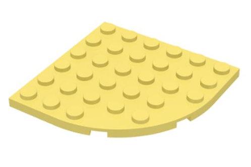 Plate, Round Corner 6 x 6