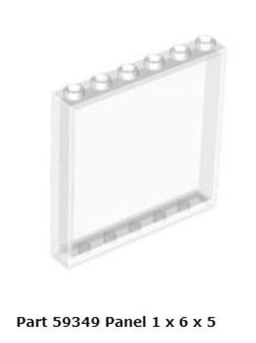 Panel 1 x 6 x 5 Trans Clear