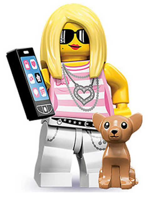 Lego Minifigür Seri 10 Trendsetter No:14