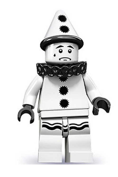 Lego Minifigür Seri 10 Sad Clown No:11