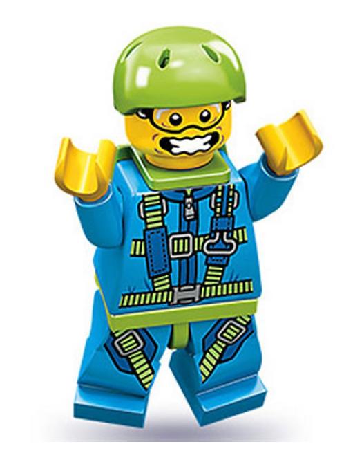 Lego Minifigür Seri 10 Skydiver No:6