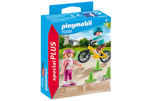 Playmobil 70061  Children with Skates and Bike