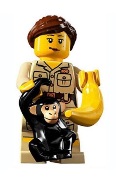 Lego Minifigür Seri 5  Zookeper No:7