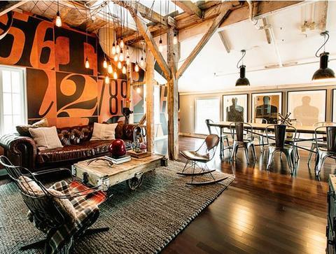 Spennende leiligheter, med autentisk industri detaljer