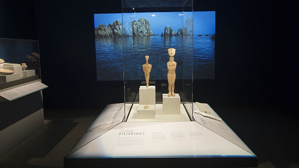 The Greek, Agamemnon to Alexander, display case