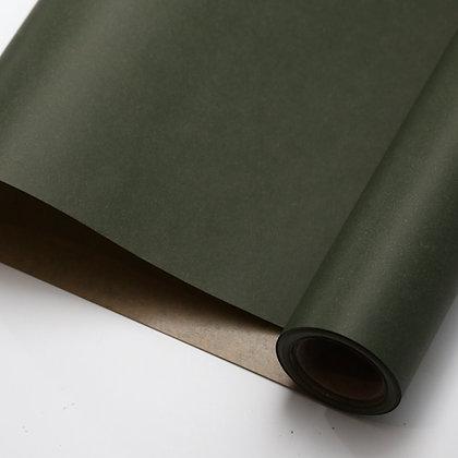 ラッピングペーパー クラフト紙/グリーン
