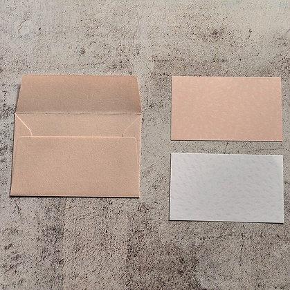 メッセージカード ピンク/ホワイト(105 x 70)