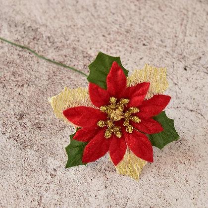 クリスマスオーナメント ポインセチア( 6cm)