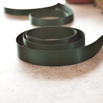 シングルサテンリボン ディープグリーン 12mm/18mm