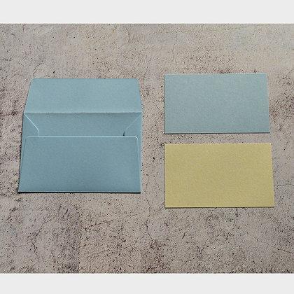 メッセージカード 水色/きなり(105 x 70)