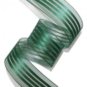 ラインオーガンジー ダークグリーン26mm