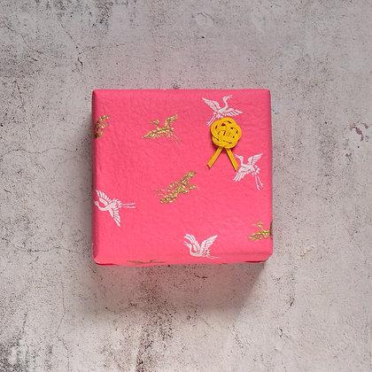 和のラッピング 鶴(ピンク)19041