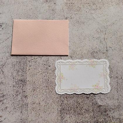 メッセージカード ピンク/レース(62 x 92)