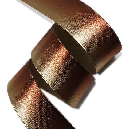 ツートンサテンリボン ブラウン系 12mm