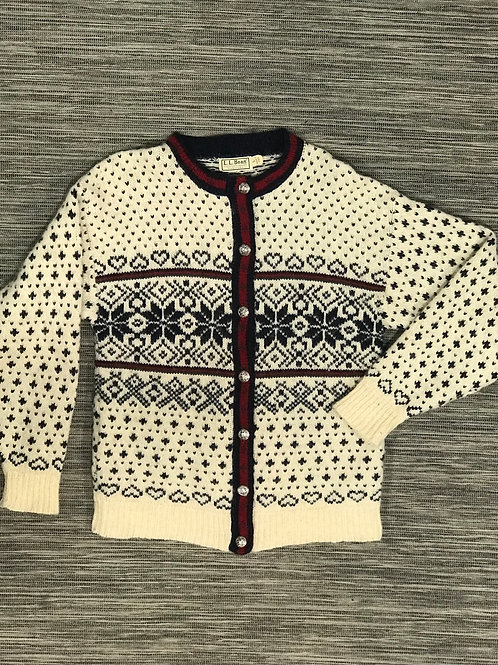 Vintage L.L.Bean Nordic knit cardigan