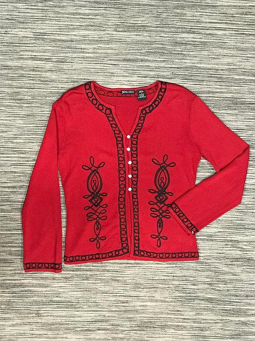 Y2K cornelli embellished cardigan