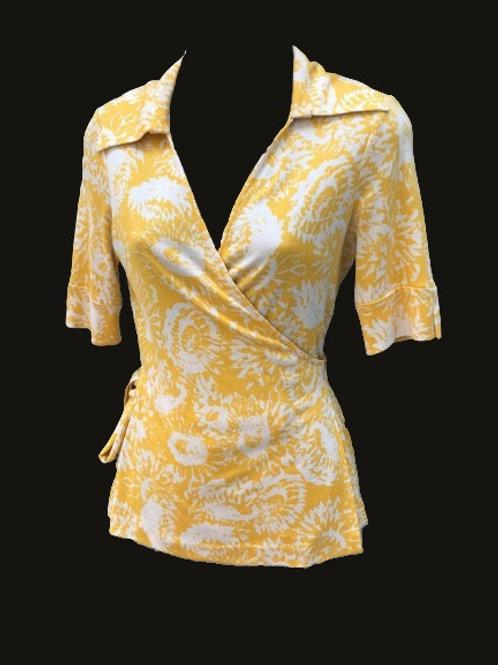 Diane Von Furstenburg Silk Wrap Top