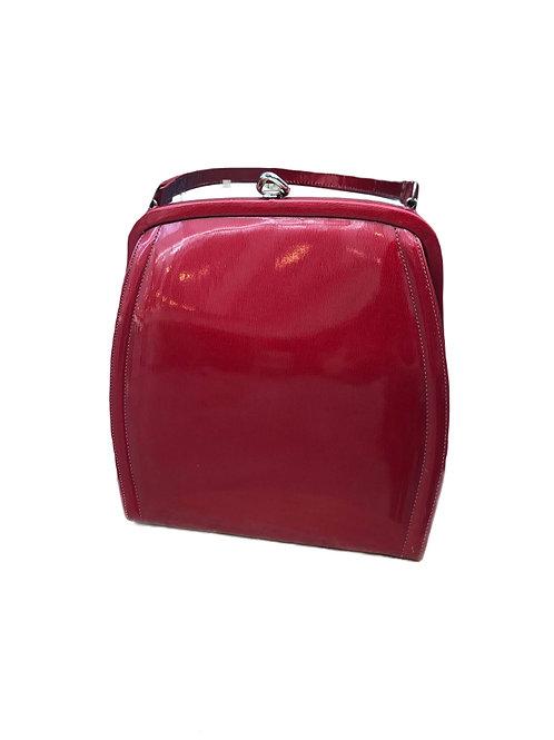 1940s Theodor California Red Patent Leather Handbag