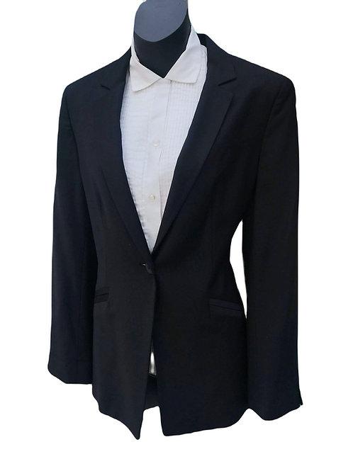 Designer Armani Collezione Wool Blend Black Blazer