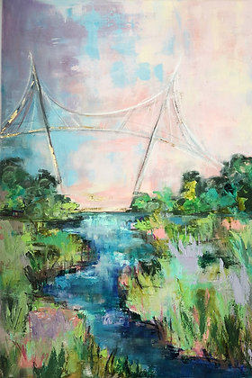 """Liberty Bridge in Spring"""