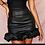 Thumbnail: Scrunchy leather skirt