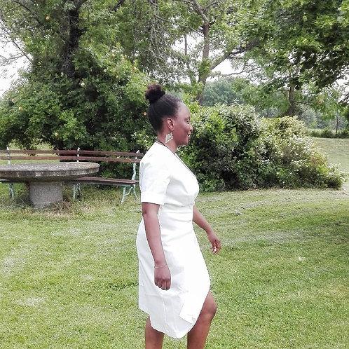 White assymetrical dress