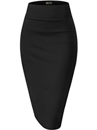 Quarter length office skirt