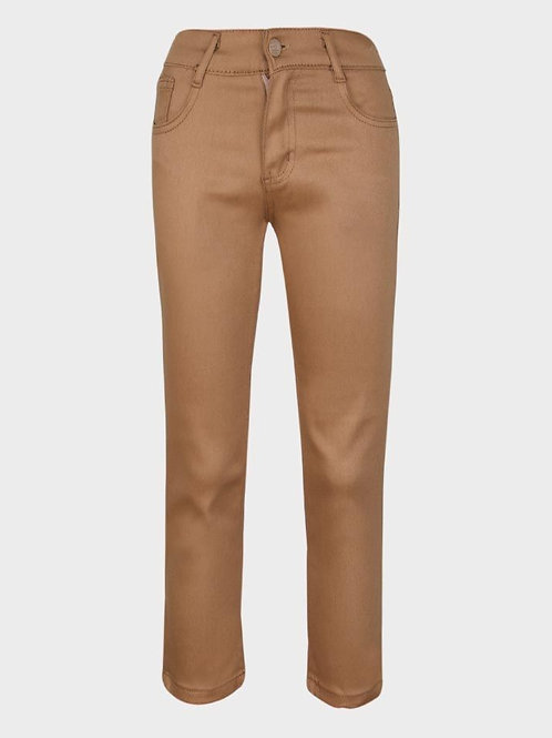 Brown stretch trousers