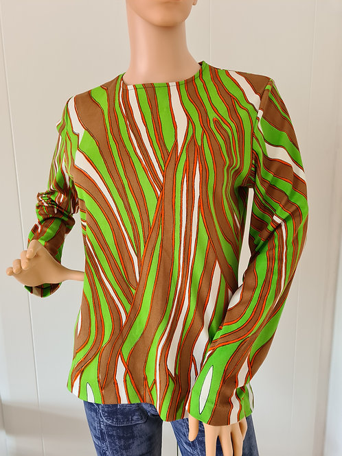 Unusual 1970s patterned Top by Capitoli