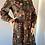 Thumbnail: Vintage Green Floral Long Sleeved Empire Line Scoop Neck Maxi Dress UK 14