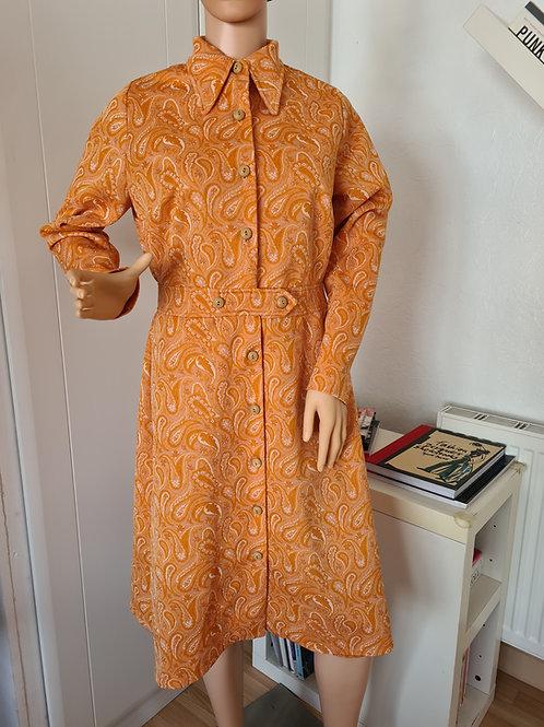 Vintage Orange Coat Dress by St Michael Size UK 18