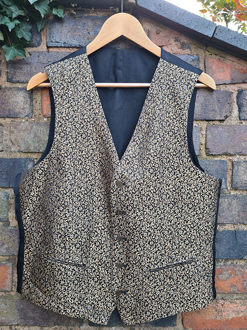 Vintage 80s Silk Waistcoat by St Michael L