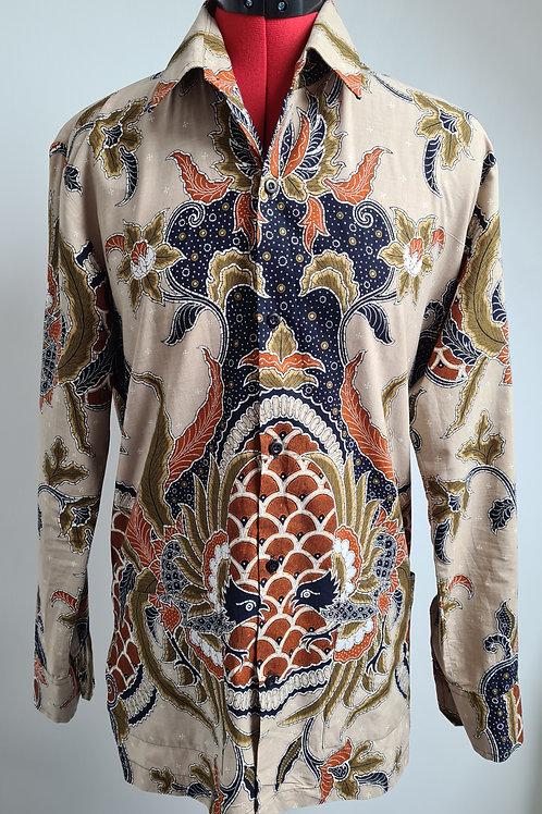 Batik Keris Mens Shirt made in Indonesia M
