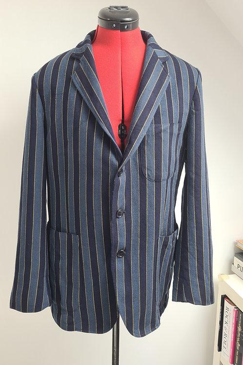 Vintage 1960s Cassidy London Blue Striped Boating Blazer Jacket M UK38 Chest
