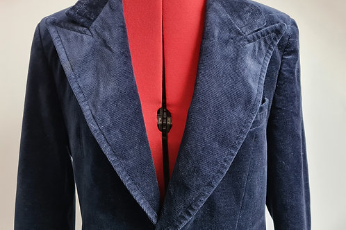 Vintage 1970s Navy Corded Velvet Jacket by Angelo Letrico M
