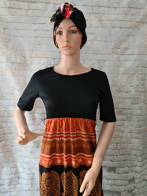 Vintage 70s Maxi Dress by Sybil Zelker for Polly PeckUK size 10